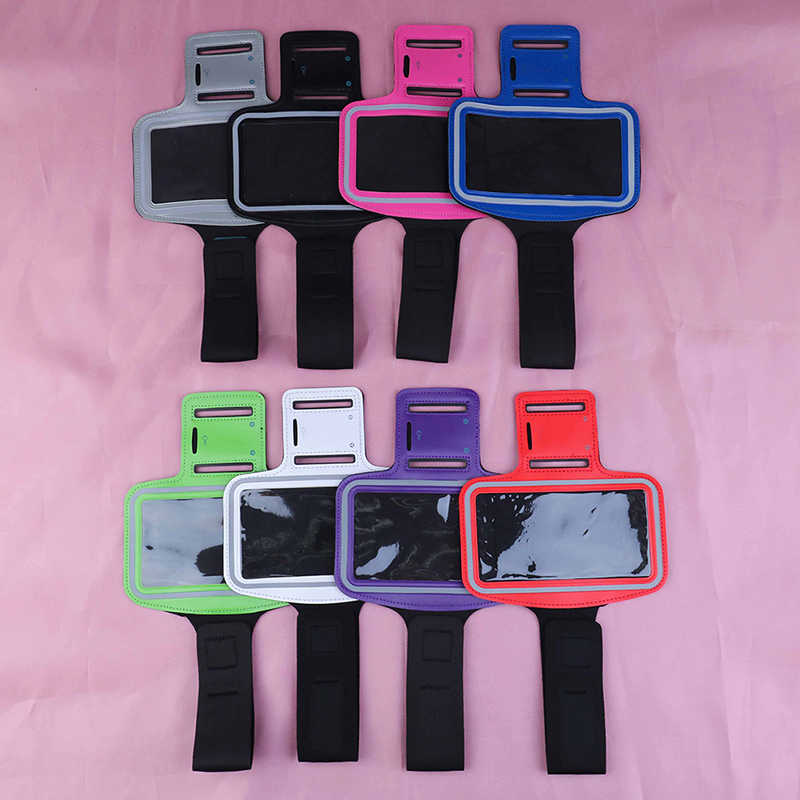 Arm Bag 17cm*32cm Phone Cases with headphone jack key hole Sport Arm Band Belt Cover Universal Waterproof Running Arm Band Bag