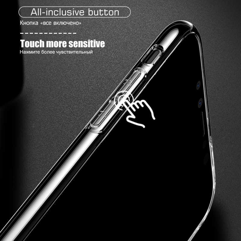 GerTong przezroczysty skrzynki pokrywa dla iPhone XR XS Max X 10 8 7 6 S 6 S Plus 5 5S SE 4 4S miękka TPU etui silikonowe etui na telefony