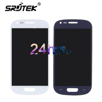 Black White Blue For Samsung Galaxy S3 Mini i8190 LCD DisplayScreen Glass Panel +Touch Screen Digitizer Assembly