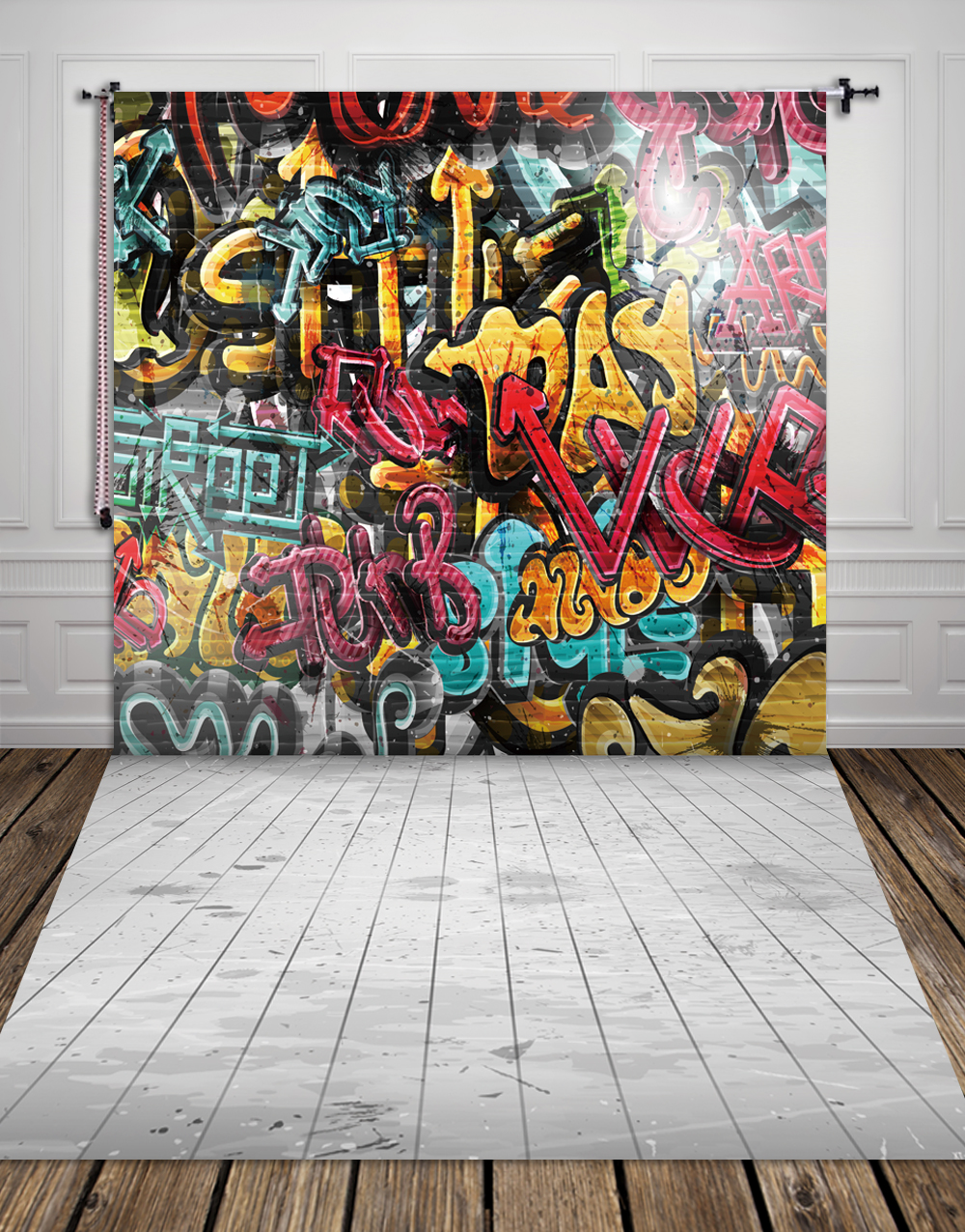 HUAYI fabric cloth photo studio backdrop Wall graffiti photography backdrops cool rock photography studio backgrounds XT