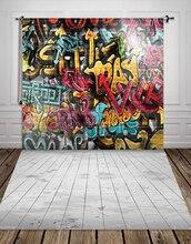 Huayi Ткань Фотостудия Фон граффити фотографии фонов Прохладный Рок Фотостудия фоны xt-2399