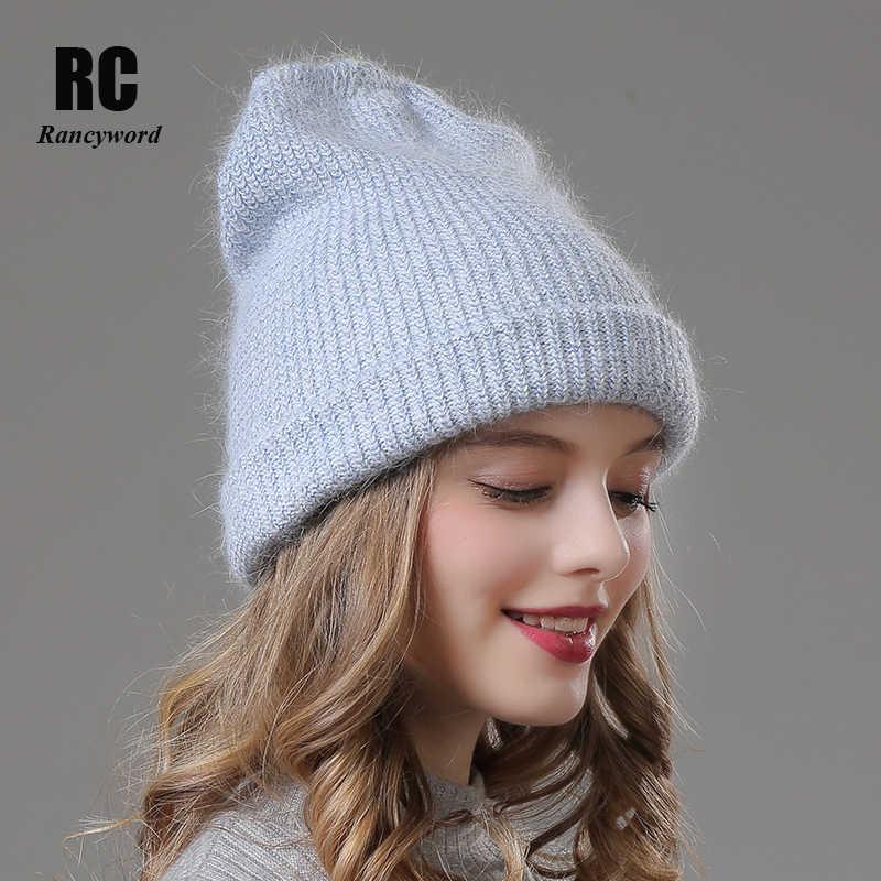 a00b991b760966 [Rancyword] Women Winter Hats Beanies Casual Female Real Fur Warm Hat Cap  Gorros Angora