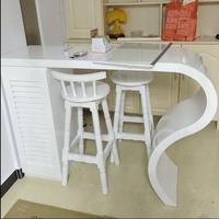 Простой бытовой краски барные столы на заказ изогнутые отрезать гостиная стены дешевые винный бар дома небольшой барный стол