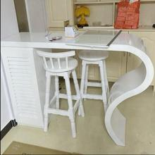 Simple household paint Bar tables custom curved cut off the living room wall Cheap Wine Bar home small bar table