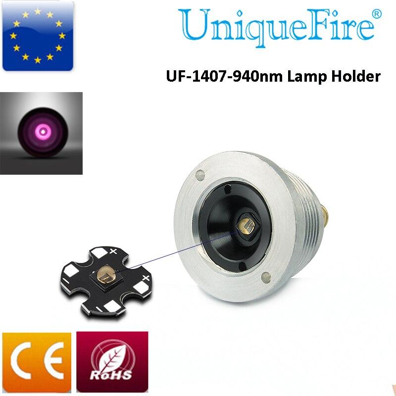 UniqueFire uf-1407 ИК <font><b>940nm</b></font> светодиодные лампы 3 Режим инфракрасный свет лампы держатель T38 38 мм выпуклая линза для Охота фонарик.