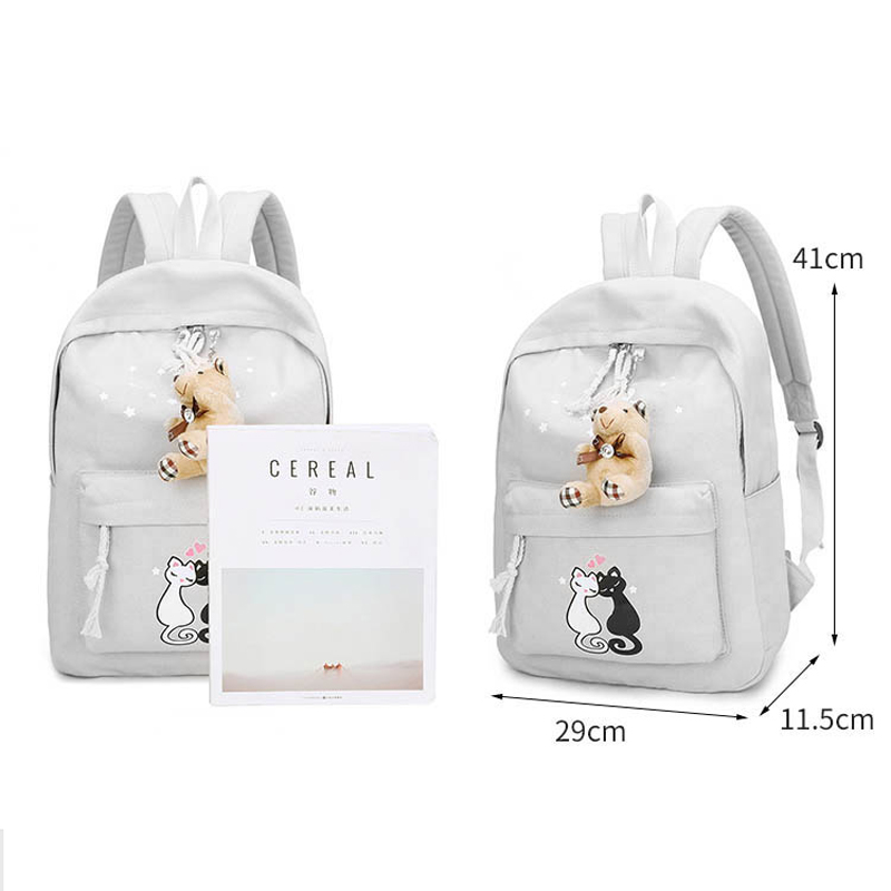 5 conjuntos menina mochilas mulher Handle/strap Tipo : Soft Handle