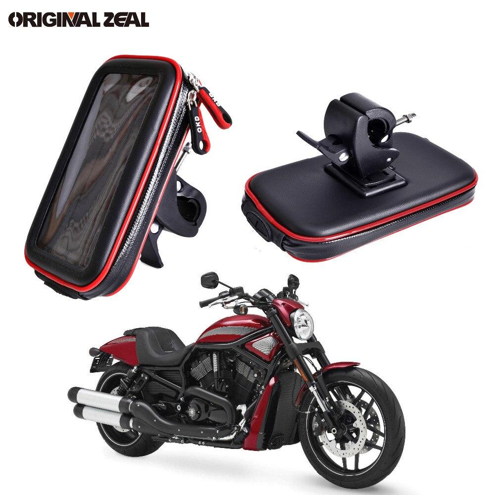 2018 Wasserdicht Tasche Motorrad Handyhalter Ständer Clip Montieren Unterstützung für iPhone 8 7 Plus 6 X S9 S8 plus soporte movil moto