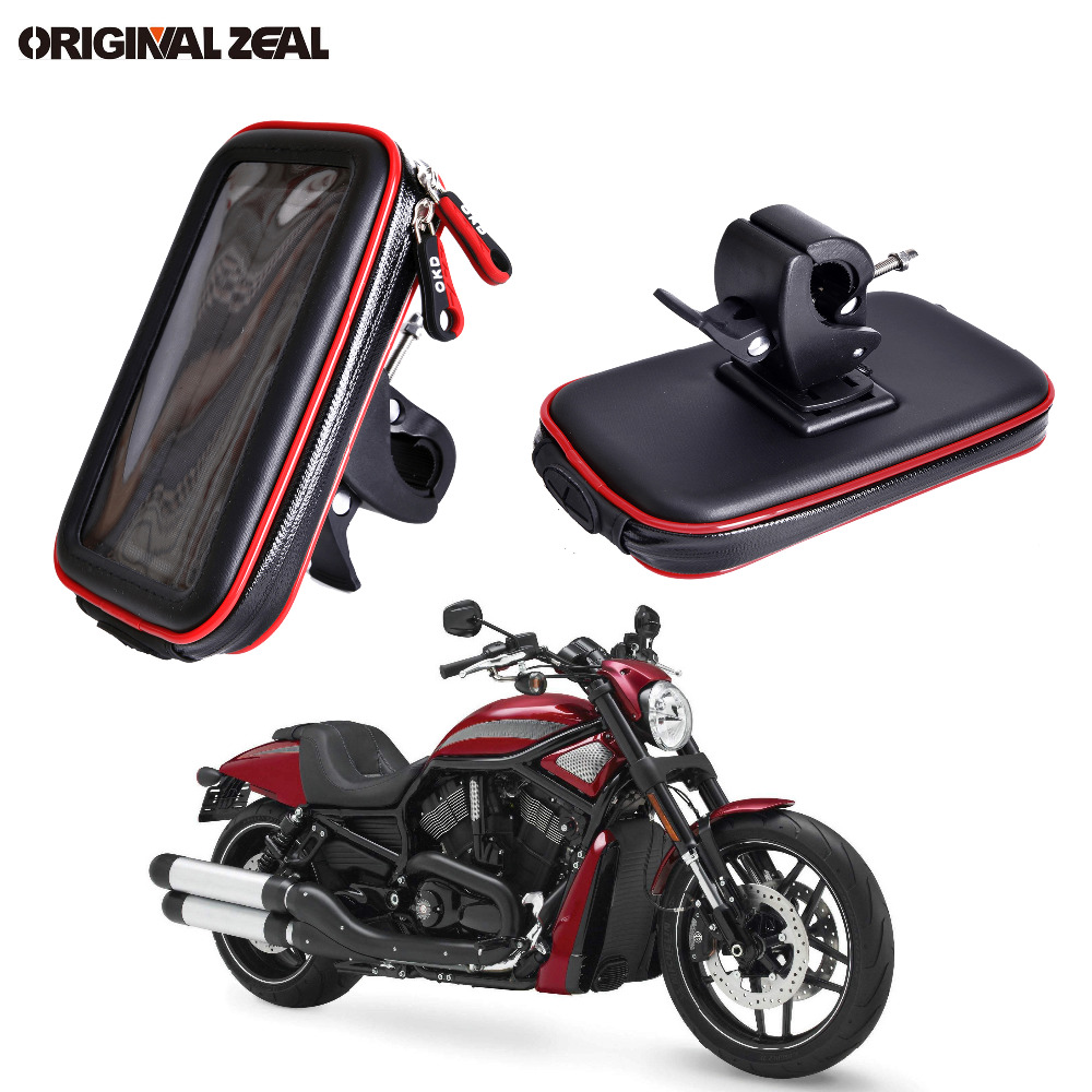 finest selection 475b2 d421f US $11.55 6% OFF 2018 Water Resistant Bag Motorcycle Phone Holder Stand  Clip Mount Support for iPhone 8 7Plus 6 X S9 S8 plus soporte movil moto-in  ...