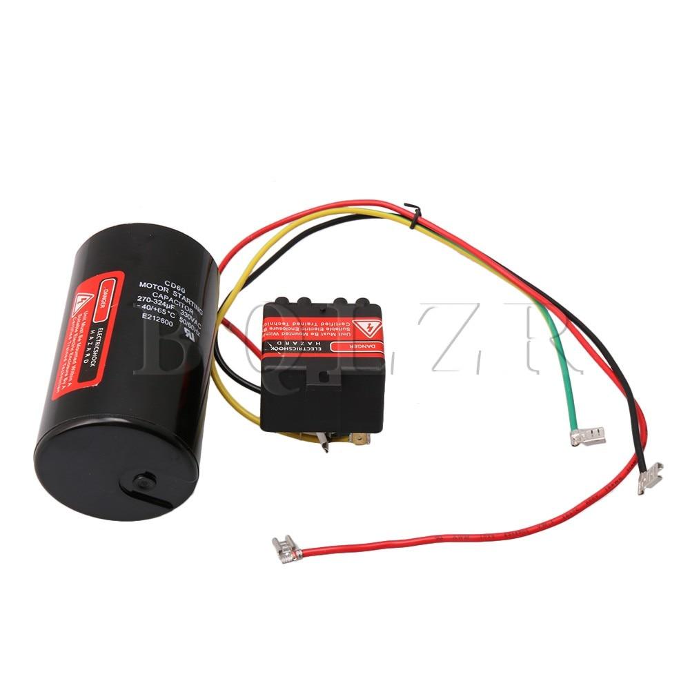 BQLZR AC Hard Start Capacitor Compatible 5-2-1 CSR-U1 Compressor Saver For 1-3 Tons Hard Start Kit 270-324uf