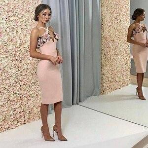 Image 2 - Adyce 2020 nuevo verano mujer rosa Floral vendaje vestido Vestidos de fiesta, de noche, de celebridad volantes Spaghetti Strap Club Dress