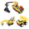 Kazi 8048/8049/8050 serie de la ciudad la construcción urbana equipo de ingeniería dumpers building blocks ladrillos juguetes para niños kids regalo