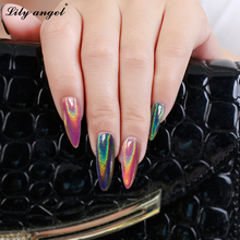 2g/box Laser Silver Holographic Shiny Powder Magic Mirror Nail Glitters Art Sequins Chrome Pigment Polish Dust