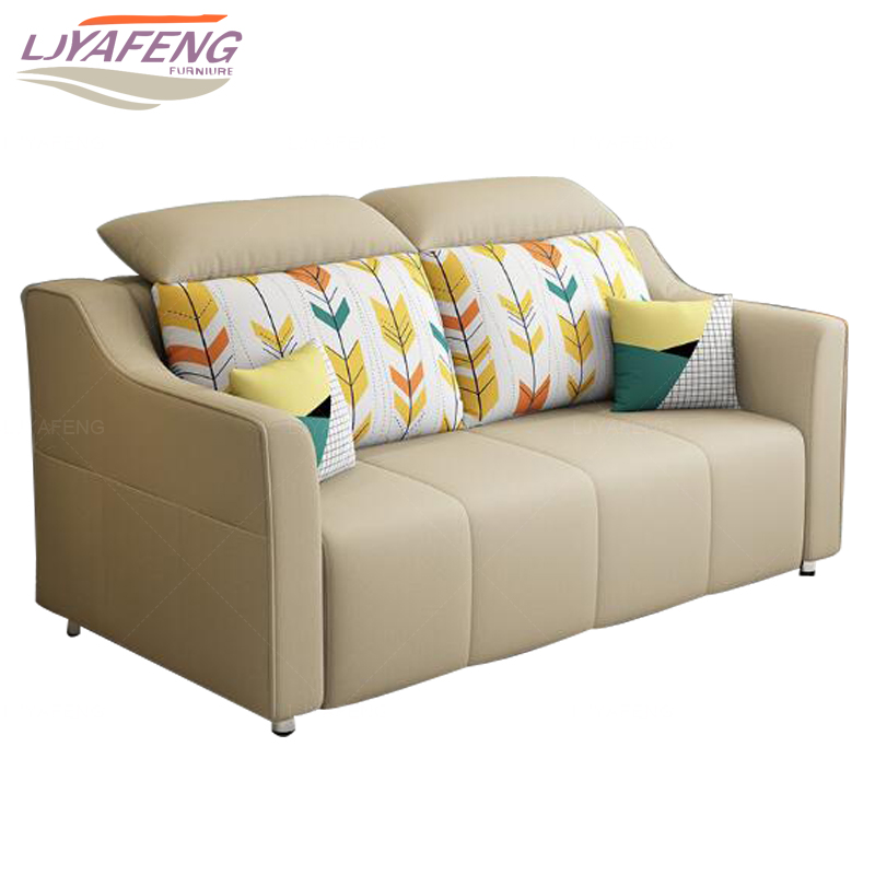 Fabric Art Folding Sofa Bed Living Room Small Apartment Double Dual Use  Simple Modern Multi Function Push Pull 1.5 M