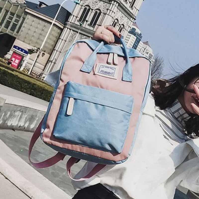 HTB1j0nJB2iSBuNkSnhJq6zDcpXaB Yogodlns Campus Women Backpack School Bag for Teenagers College Canvas Female Bagpack 15inch Laptop Back Packs Bolsas Mochila