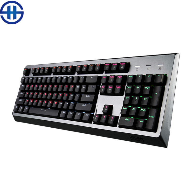HELLBOY MX600 Mechanical Keyboard 104key black red Cherry MX Switches Backlight Gaming Keyboard For Laptop PC Computer office cherry cherry jm 0300 wired gaming mouse black