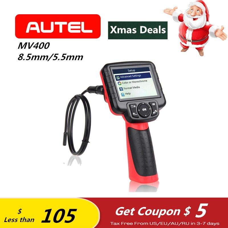 Autel Maxivideo MV400 Digital Videoscope con 8.5mm/5.5mm Ingegnere Scanner Macchina Fotografica di Controllo Dell'endoscopio per Auto Auto Diagnostica