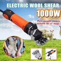 1000W 220V 6 Gears Geschwindigkeit Elektrische Schaf Ziege Schermaschine Trimmer Werkzeug Wolle Scissor Cut Maschine Mit Box-in Scheren aus Werkzeug bei
