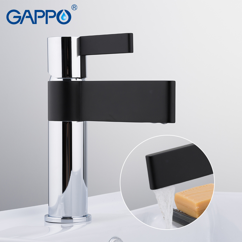 GAPPO Basin faucets black and chrome waterfall taps bathroom sink faucet mixer tap washbasin bath faucets brass basin mixer bathroom faucet advanced modern glass waterfall contemporary chrome brass bathroom basin faucets sink mixer waterfall tap