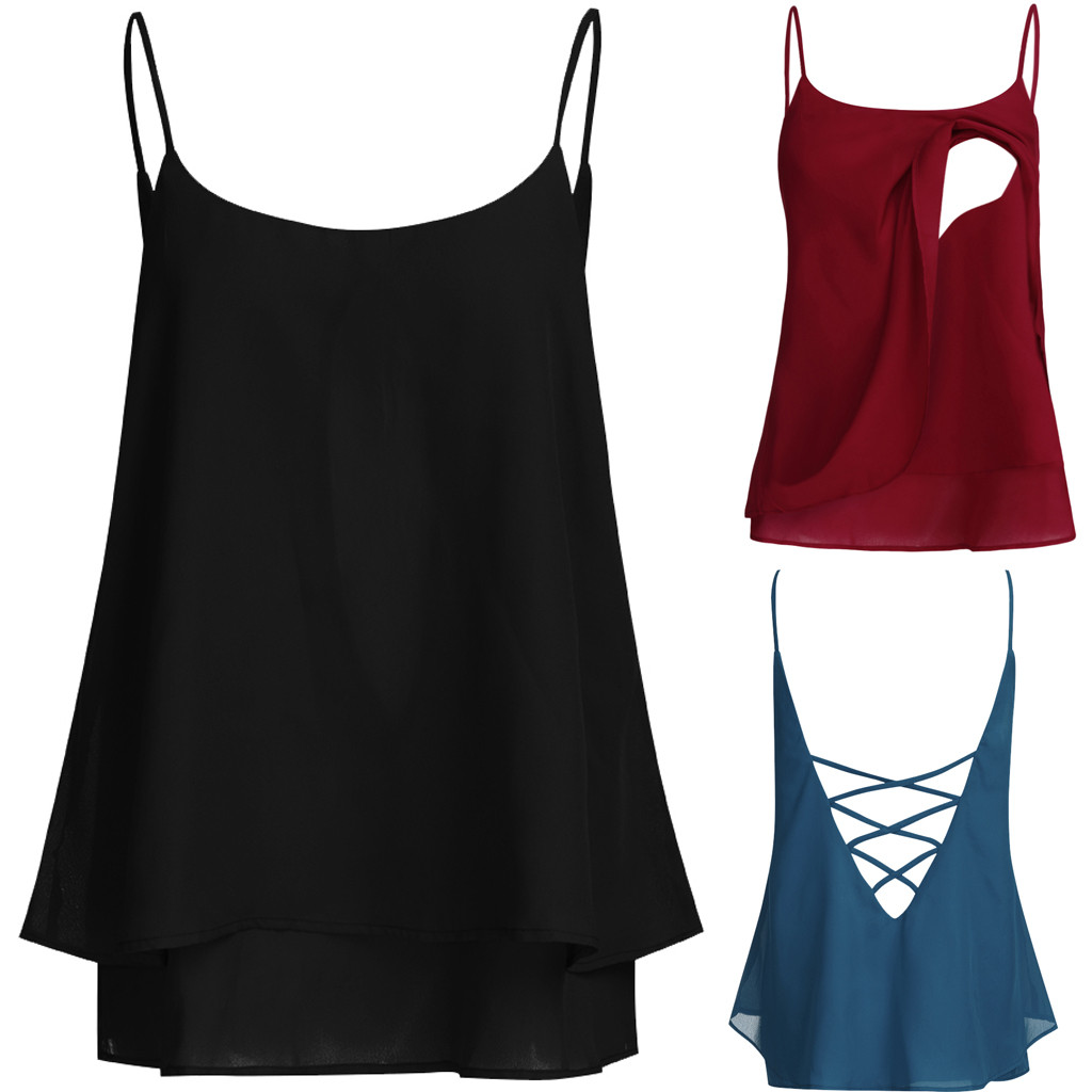 Maternity Breastfeeding Tops Sleeveless Blackless Strap Solid Tshirt Blouse Summer Nursing T Shirt Clothes For Women Pregnant