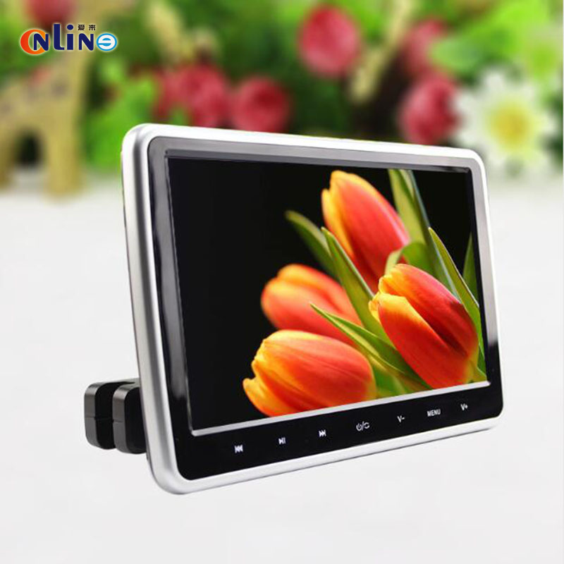 Online/10.1 Inch 1024*600 Car Headrest Monitor DVD Player USB/SD/HDMI/FM TFT LCD Screen Touch Button 32 Bit Game Remote Control