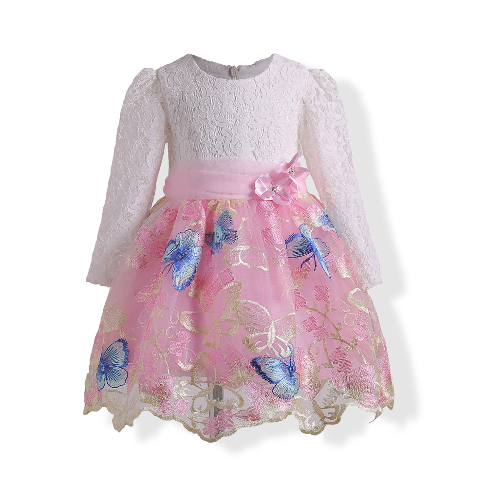 2017 Europe and the United States new young girl bow dress, fine embroidery dress напильник united states nicholson nicholson 10 06034