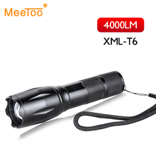 Military Grade 5 Modes XML T6 Hunting Flashlight Torch 4000LM Zoomable Convoy S2 Led Flashlights 18650 Lantern Led Torch IPX5