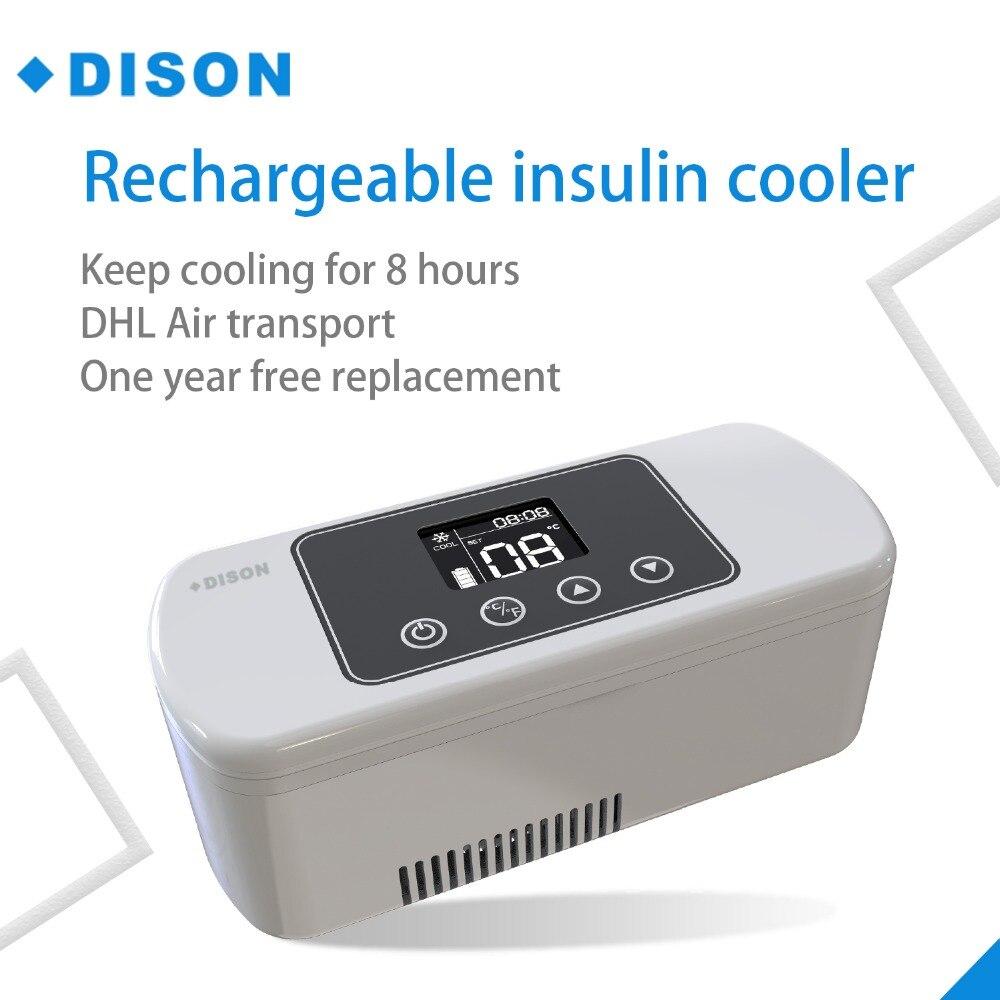 L'insuline Réfrigérateur fonctionnant sur batterie Portable mini réfrigérateur insuline glacière Diabète Sac