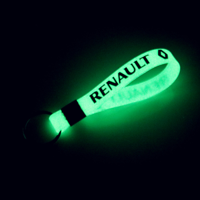 New Luminous Auto Car-Styling KEYCHIAN Car Sticker Keyring For Renault Laguna 2 Duster Logan Clio 4 Captur Sandero Espace