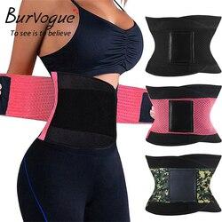 Burvogue المشكل النساء محدد شكل الجسم التخسيس المشكل حزام المشدات شركة تحكم مدرب خصر Cincher حجم كبير S-3XL ملابس داخلية