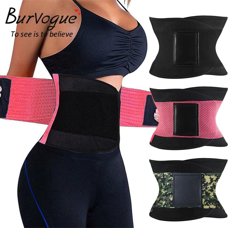 Burvogue Shapers Women Body Shaper Slimming Shaper Belt Girdles Firm Control Waist Trainer Cincher Plus size S-3XL Shapewear