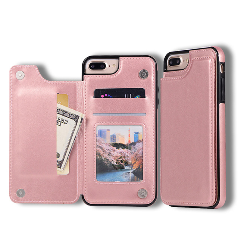 Luxury Wallet Cover Fundas Soft Silicone Case For iPhone 5 5s SE 6 6s 8 7 Plus X XR XS MAX Leather Cases Capinha For iphone8plus(China)