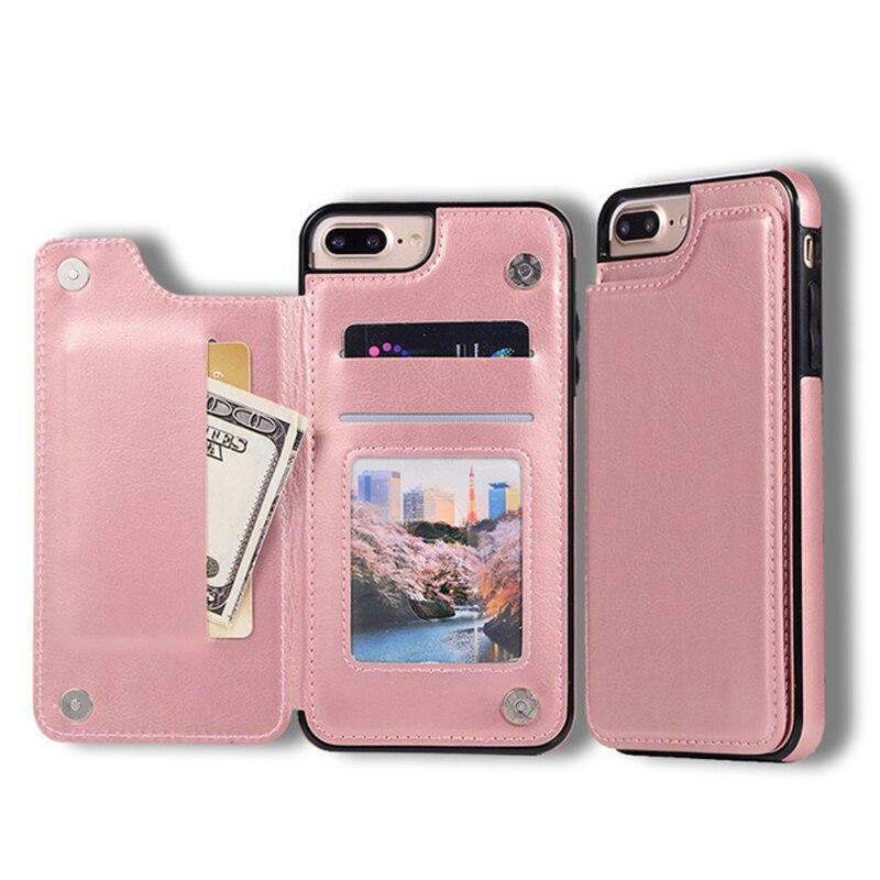 Роскошный чехол-кошелек Fundas из мягкого силикона чехол для iphone 5 5S SE 6 6s 8 7 Plus X XR XS MAX Кожаные чехлы Capinha для iphone 8plus
