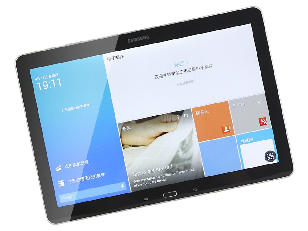 Samsung Galaxy Tab Pro 12.2 pouce T900 WIFI Tablet PC 3 gb RAM 32 gb ROM Qcta-core 9500 mah 8MP Caméra Android Tablet