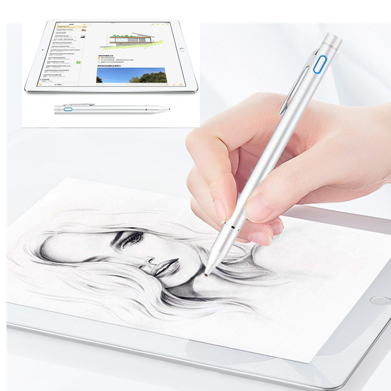 Active Capacitive Touch Screen Pencil Stylus For Apple IPad Mini 1 2 3 4 7.9 Inch 9.7 Pro Tablet Pen High-precision NIB 1.45mm