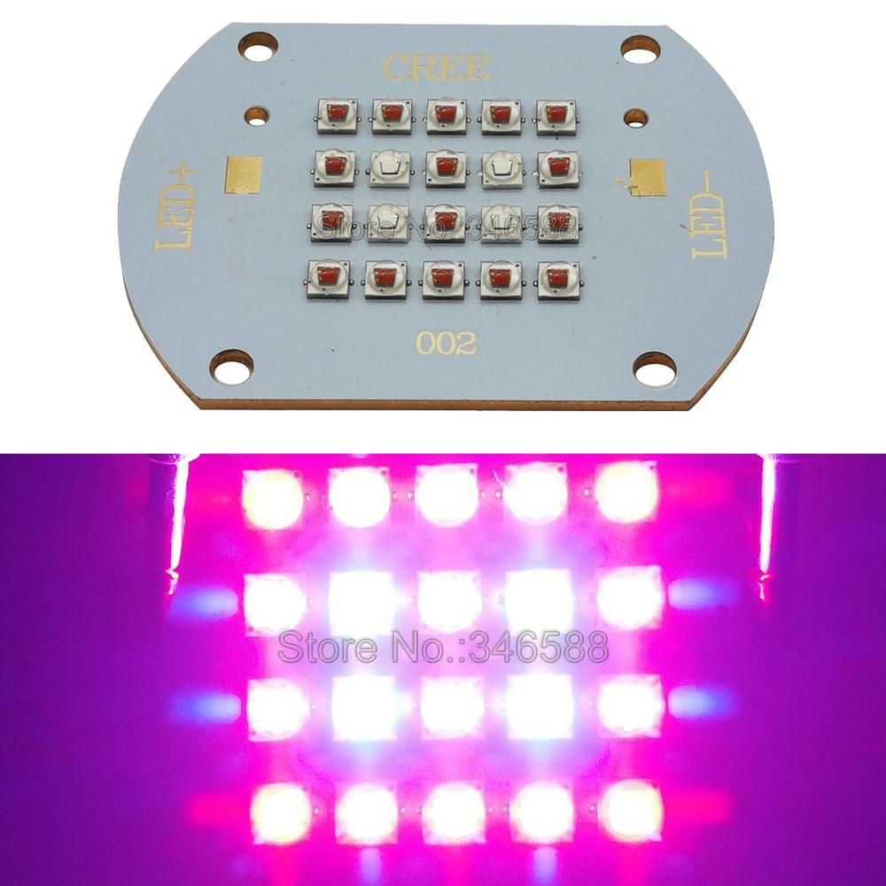 Cree XLamp XPE2 XP-E2 60 watt LED Birne Lampe Licht Rot 16 stücke + Blau 4 stücke Gemischte Farbe DIY high Power Led-strahler Lampe Licht 20-26 v 2A