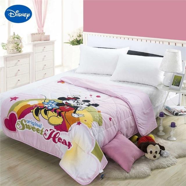 Biancheria Da Letto Bambini.Romantico Mickey Minnie Mouse Estate Trapunte Consolatore Ragazze