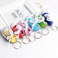 Mini 3D sneaker keychain canvas shoes key ring Tennis Shoe Chucks Keychain Favors 100 pcs