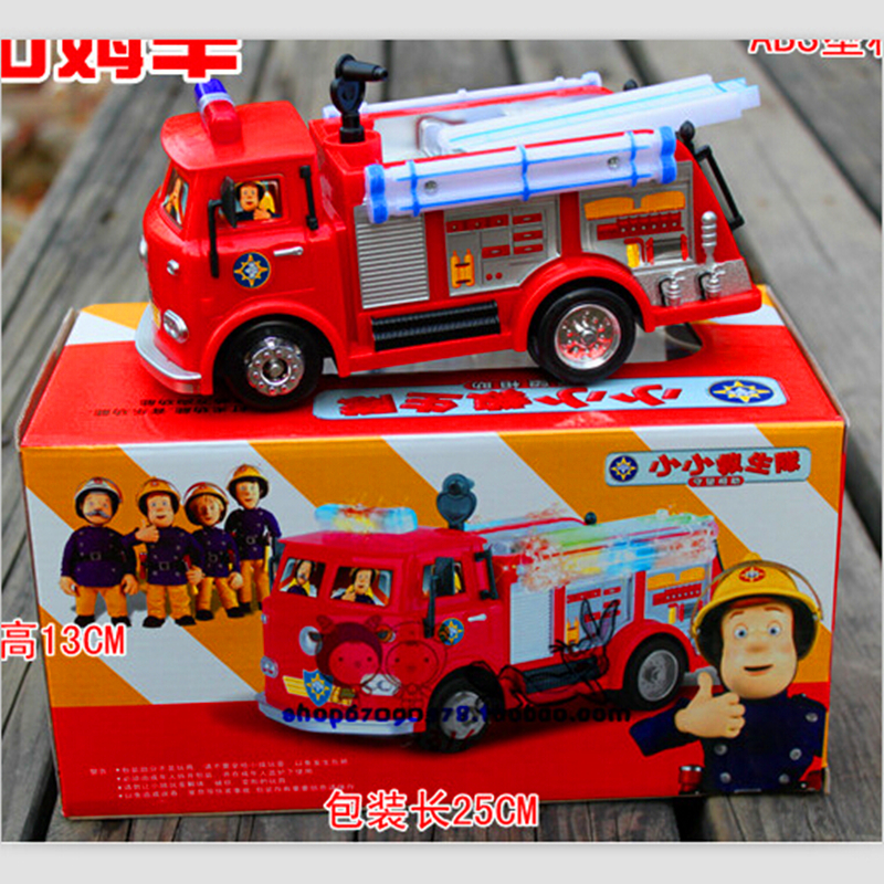 Free delivery FIREMAN SAM Toy Truck Hearth Truck Automotive With Music+LED Boy Toy Academic Toy WU406