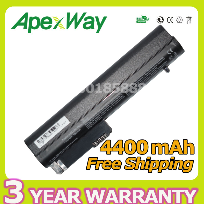 Apexway Laptop Battery For HP 2533t EliteBook 2530p 2540p Business Notebook 2400 2510p NC2400 4400mah 6 CELLS
