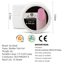 Saviland 1pcs Semi Permanent UV Builder Gel Polish UV LED Dry Fast Soak Off Clear Nails Extension Gel Varnish