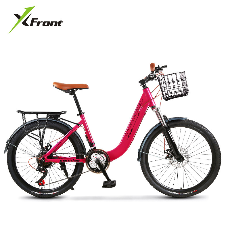 New Women's Bicycle Aluminum Alloy Frame 24 Inch Wheel 27 Speed Bike Young Children Sports Light Weight Bicicleta