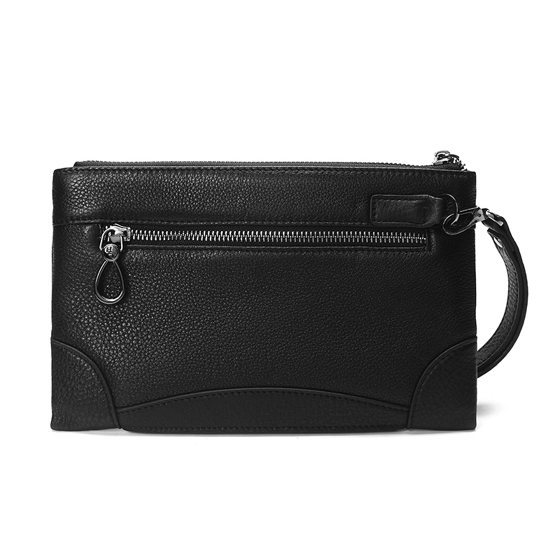 HT Simple Casual Clutch Men Carry Bags Genuine Leather Day Clutches Mens  Handbags Rivet Embossing Purse Black Vintage Long Pouch on Aliexpress.com  799f8ce85301