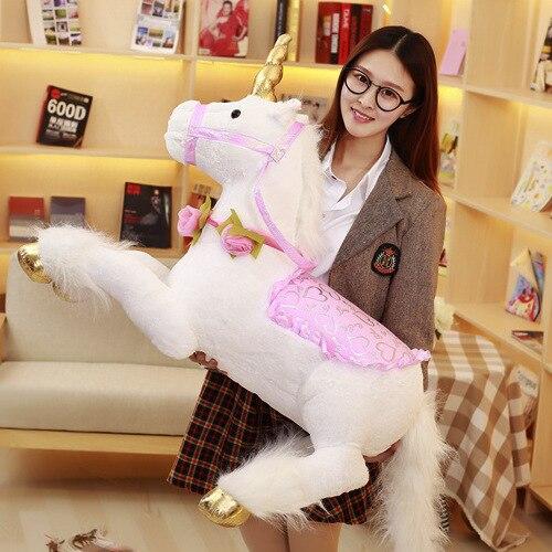 100 cm énorme en peluche licorne peluche cheval Jouets Poupée pour Enfants Enfants grand cadeau d'anniversaire licorne en peluche animal en peluche douce moelleux