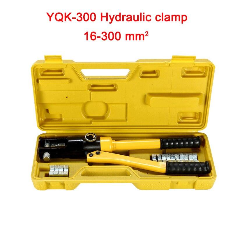 Livraison gratuite par DHL 1 pcs 16-300mm plage de sertissage outil de sertissage Hydraulique 12 t pression YQK-300