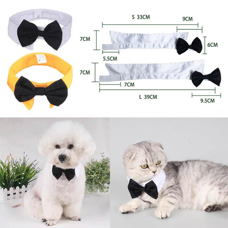 Butterfly Tie Cat Neckties Bow Necktie Collar 2 Size Dog Bow Ties Adjustable Grooming Product 1 PC Pet Accessories