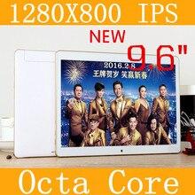 9.6 «планшетный ПК 3 г планшетный Окта Core 1280*800 ips 5.0mp 4 г/128 ГБ клавиатура android 5.1 gps bluetooth Dual sim-карты Телефон Call