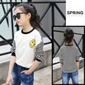 4 5 6 7 8 9 10 11 12 13 Yeras Girl T Shirt Smiling Face Print Girl T-shirt Kids Clothes For Teens Girls Vetement Fille
