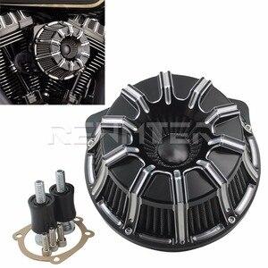 Image 5 - Фильтр для очистки воздуха CNC ремесла перевернутая большая присоска для Harley Sportster 883 1200 Softail Dyna Touring King
