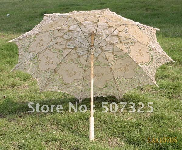 18pcs/Lot, 30'' Wedding umbrella lace parasol Handmade , High quality, Beautiful, Factory Price