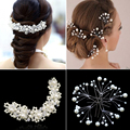 Wedding Hair Accessories for Bride Hairpins Beautiful Crystal Rhinestone Decorations Petal Hair Clip for Women para el pelo
